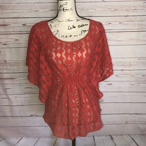 The Addison Story Bat Wing Top Size S